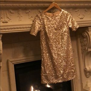 Dresses & Skirts - Champagne holiday sequin dress